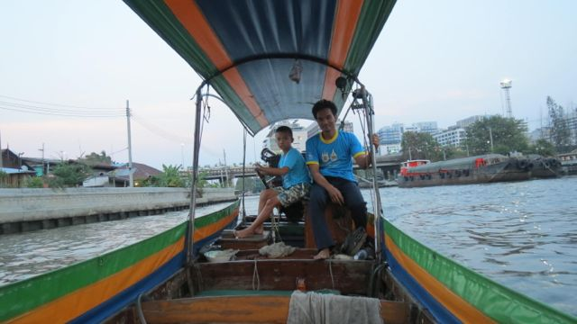 My Longboat Captain and First mate.