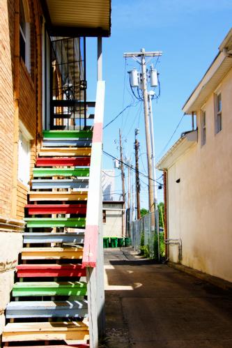 rainbow steps